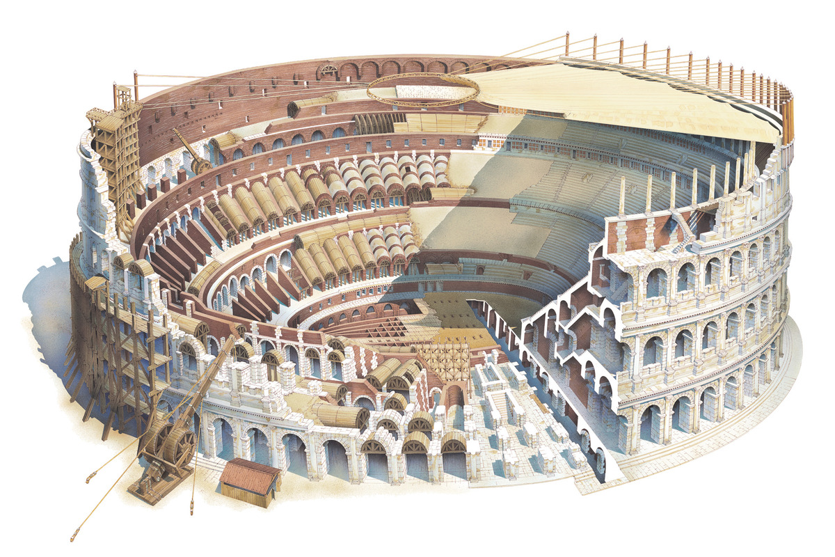 The Roman Coliseum and its Construction
